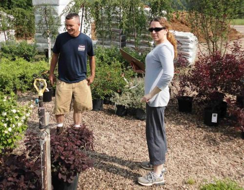 Keith & Julie pick out plants to decorate for Graduation at Conotton Valley High School